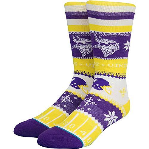 Stance NFL Holiday Sweater Socken (Gr. 43-46 (L), Minnesota Vikings)