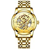 Original Delicate Skeleton Mechanical Watches for Men Automatic Slef-Wind Wrist Watch Luxury Stainless