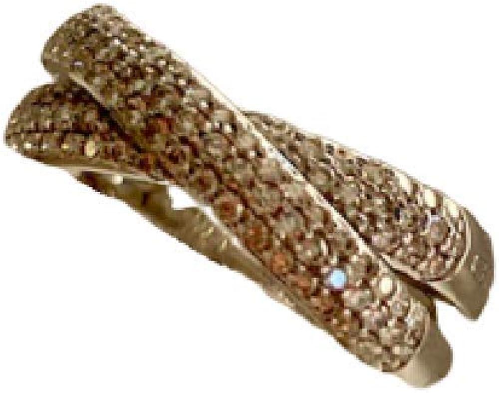 Chimento,anello per donna in oro bianco 18 kt(5,5 gr) pave` incrociato di diamanti 0,60 ct 1A07964BB5149