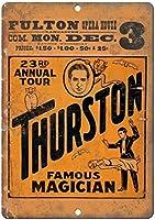 サーストンマジシャンフルトンオペラハウスバー、書斎、リビングルーム、ダイニングルーム、ベッドルーム、カフェのレトロティンメタルサイン