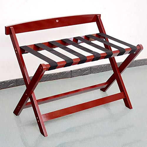 Great Features Of HOMRanger Hotel Luggage Rack Solid Wood Luggage Rack, Hotel Bedroom Foldable Lug...