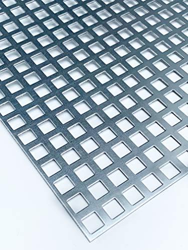 Lochblech Verzinkt QG10-15 Stahl Verzink 2,0 mm dick Zuschnitt individuell auf Maß NEU günstig (1000 mm x 500 mm)