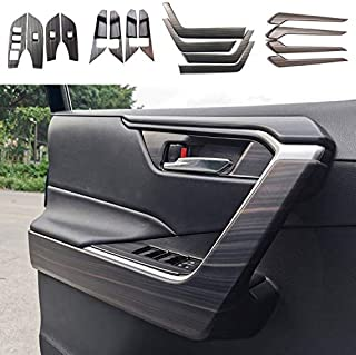 Rifoda for 2019 2020 2021 Toyota RAV4 ABS Carbon Fiber Accessories Door Panel Armrest Cover and Glass Lifting Switch Panel...