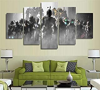 zxfcccky Art Print 5 Pieces Dead Space sis Mass Effect Painting Canvas Wall Art Picture Home Decoration Living Room Canvas Print Modern PaintingHalloween -40x60cmx2/80cmx2/100cmx1