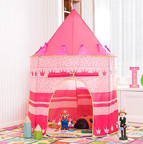 La Tienda del Juego Castillo Tienda del Juguete, Tienda De Campaña Interior Y Exterior Plegable Portátil, Juegos para Niños Juego Casa Regalo De Cumpleaños, para Interiores Y Exteriores,Rosado