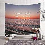 Tapisserie De Surf De Plage Nordique Jetant Une Couverture en Tissu De Polyester Chambre À Coucher Salon Loisirs Décoration Hyococ (Color : B, Size : 203x150)