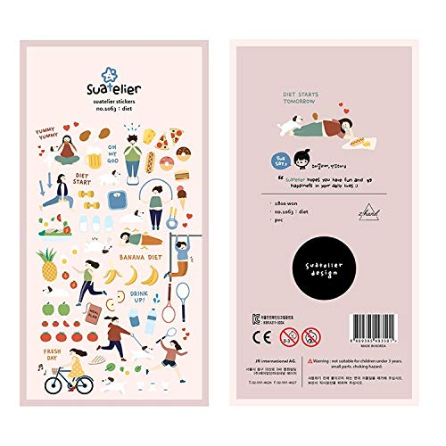 BLOUR Koreanische Import Suatelier Marke Sonia Tägliche ÜbungDIY Scrapbooking Tagebuch Briefpapier Aufkleber Lieferungen