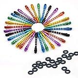 Cañas para dardos ToBeIT de aluminio Dart Shaft, de metal, para puntas de dardo blandas y de acero, bunt18