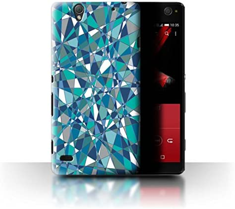 Phone Case for Sony Xperia C4 Teal Fashion Abstact Glass Prism Design Transparent Clear Ultra product image