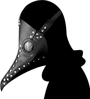 LFOZ Animal Mask Long Nose Beak Cosplay Steampunk Halloween Costume Props Festival Party Dress Up (Color : A)