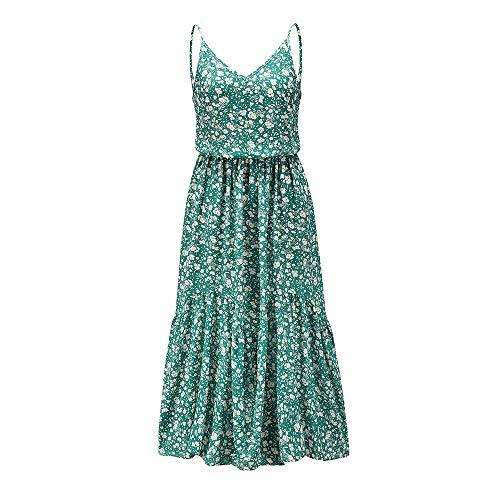 Sommer Bohemian Blumen Hosenträger Rock Amazon Europäische und amerikanische Frauen Nähte Bedruckt Kleid