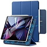 ESR iPad Pro 11 ケース 2021 第3世代 iPad Pro 11 カバー 2020 第2世代 通用 磁気吸着 Apple Pencilのペアリングと充電に対応 オートスリープ ウェイク スリム 軽量 シルク手触り 高級感 三つ折りスタンド マグネティックスマートケース ネイビーブルー
