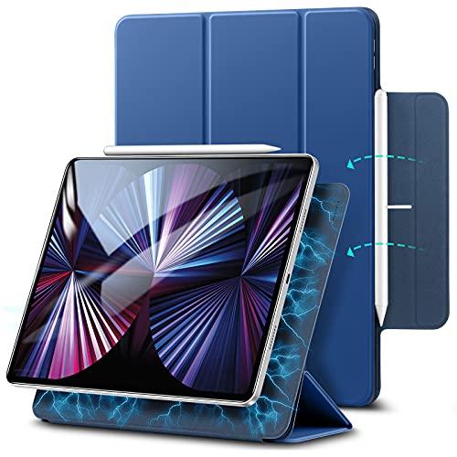 ESR Magnetische Hülle kompatibel mit iPad Pro 11 2021 5G/2020, Auto Schlaf-/Weckfunktion, Trifold Standhülle kompatibel mit iPad Pro 11 Zoll (3. Generation), Blau
