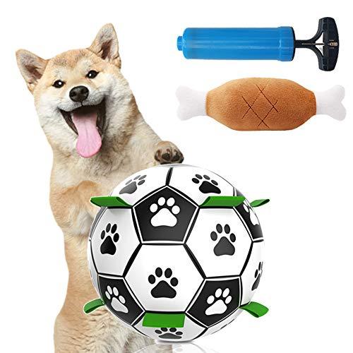 Pallone da Calcio per Cani,Palla Giocattolo per Cani,Palla da Gioco per Cani in Gomma Naturale ,Rimbalzante Morso Resistenti Palla,Giocattolo Palla per Cane