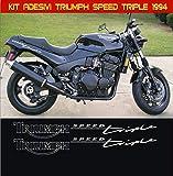 Aufkleber stickers TRIUMPH SPEED TRIPLE -JAHR 1994- moto decal bike-Motorrad- Cod. 0640 (Argento cod. 090)
