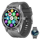 APCHY Smart Watch Monitores De Actividad,1.28 Pulgadas De Pantalla Completa Tracker De Llamadas De Bluetooth, Moda Deportiva Monitoreo De Salud Pulsera Inteligente, Ritmo Cardíaco,A