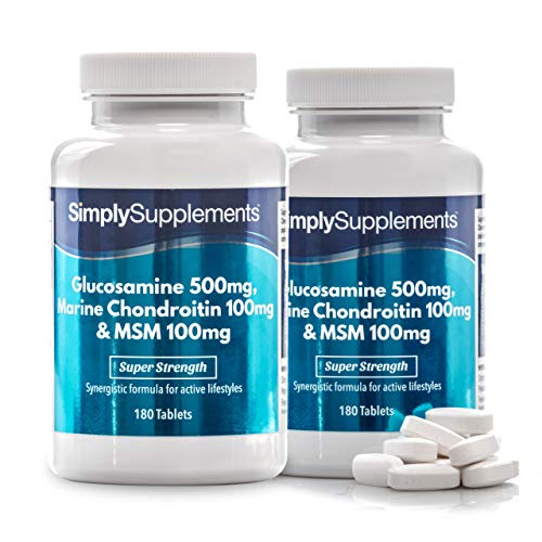 Glucosamin 500mg, Marine Chondroitin 100mg & MSM 100mg - 360 Tabletten - SimplySupplements