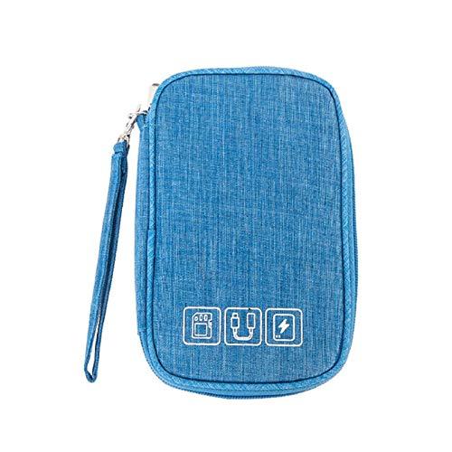 Estuche para organizador de electrónica Cable Organizador Bolsa de viaje Bolsa de viaje Cargador de alambre Bolso digital USB Accesorios pequeños portátiles Bolsa electrónica portátil Caja de cremalle
