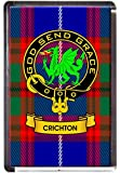 Crichton Clan Tartan Fridge Magnet with Scottish...