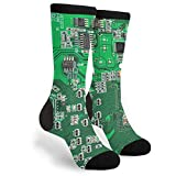 Green Computer Circuit Board Unisex Adult Fun Cool 3D Print Colorful Athletic Sport Novelty Crew...