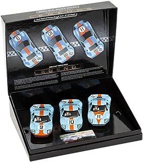 Scalextric Legends Ford GT40 Le Mans 1968 Gulf Triple Pack Limited Edition Slot Cars 1:32 Race Car Set C3896A, Blue & Orange