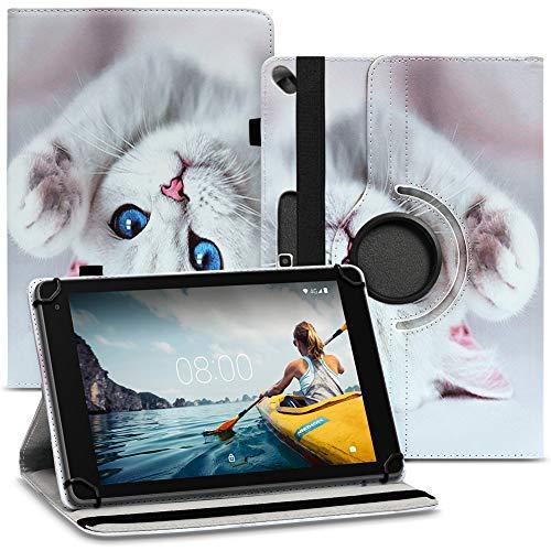 Nauci Tablet Schutz Hülle kompatibel für Medion LifeTab E10414 P10612 P10610 P9701 P10603 P10606 P10602 P9702 X10302 P10400 Schutzhülle Case 360 Drehbar, Farben:Motiv 14