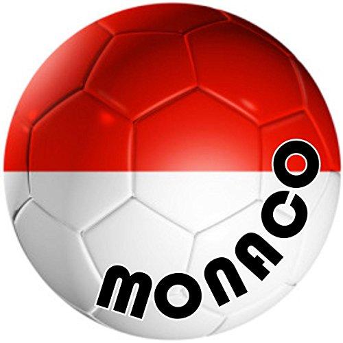 Autocolant-Squadra per Auto e Moto, Bandiera Pallone da Calcio, Motivo: Monaco
