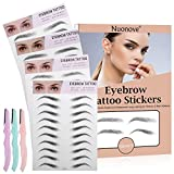 Eyebrow Tattoo Stickers, 4D Eyebrow Tattoo, 4D Eyebrow Sticker, 4D Hair-like Authentic Eyebrows Waterproof...