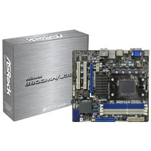 Asrock 880GMH/U3S3 Sockel AM3+ Mainboard (Micro ATX, AMD 880, 4X DDR3 Speicher, 2X USB 3.0)