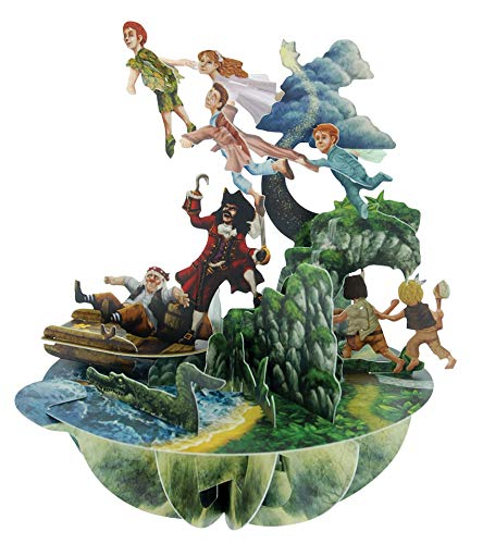 Santoro 3D Pirouette Pop Up Carte de v?ux Motif Peter Pan