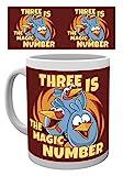 Angry Birds 1art1 Three Is The Magic Number Tazza da caffè Mug (9 x 8cm)