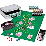 Maxstore Ultimate Pokerset Deluxe, 300er BZW. 600er Edition, 12 Gramm METALLKERN Laserchips, Poker...