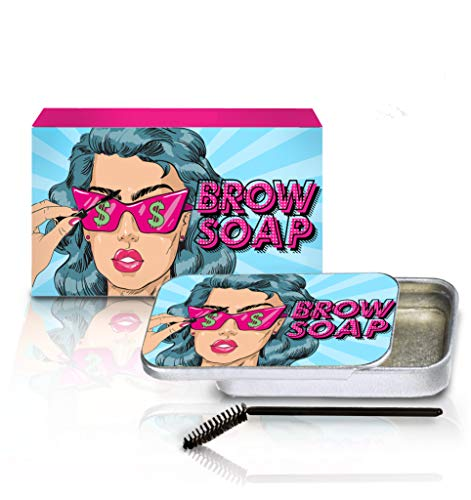 Brow Styling Soap - Clear Solid Gel for Brushed-Up Eyebrows (Brow Soap)