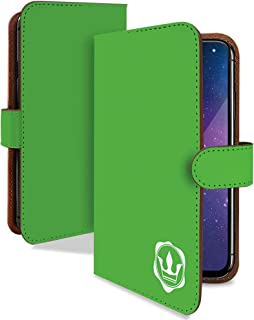 TCL 10 Lite ケース 手帳型 携帯ケース 王冠 封蝋 緑 単色 おしゃれ ティーシーエル ライト スマホケース 携帯カバー シンプル 無地 カメラレンズ全面保護 カード収納付き 全機種対応 t0822-00576