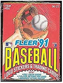 1991 fleer baseball box