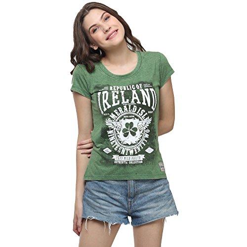 Irish Connexxion Green Republic of Ireland Celtic Nations Established Nineteen Twenty Two Ladies T-Shirt