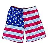 American Flag Sublimated Lacrosse Shorts, Flag, XX Large