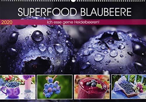 Superfood Blaubeere. Ich esse gerne Heidelbeeren! (Premium, hochwertiger DIN A2 Wandkalender 2020, Kunstdruck in Hochglanz): Die kleinen Vitaminbomben ... 14 Seiten ) (CALVENDO Lifestyle)