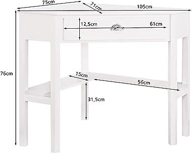 GOPLUS Bureau d'angle avec Tiroir et Etagère, Table d'angle en Bois et MDF, 1 Tiroir pour Rangement, S'intègre Co