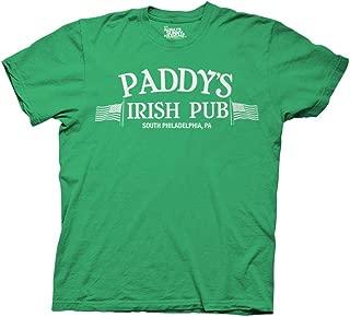 It's Always Sunny in Philadelphia Adult Unisex Paddys Irish Pub Light Weight 100% Cotton Crew T-Shirt XS Irish Green
