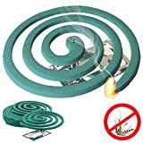W4W Mosquito Repellent Coils - Outdoor Use Reaches Up to 10 feet - Each Coil Burns for 5-7 Hours (Three Pack Contains 12 coils & 6 Coil Stands)
