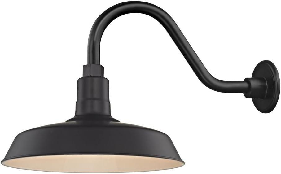 Recesso Mesa Mall Lighting Max 68% OFF Black Farmhouse Style Industrial Gooseneck Outd