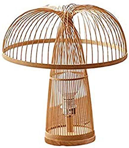 Camera da Letto della Lampada di Lettura del Salone Luce Tavolino di Vimini Lampada di bambù Paralume Lampada da Tavolo di Studio Comodino Tessuti Handmade Rattan
