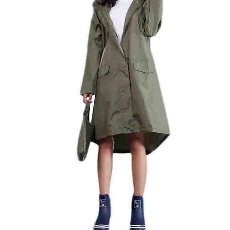 DreamYS レインコート レインウェア 男女兼用 おしゃれ 帽子 袖つき 軽量 通学 通勤 防水 防汚 フリーサイズ メンズ レディース
