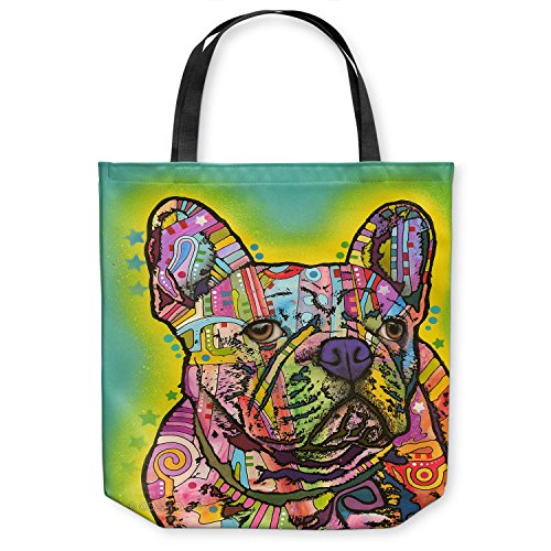 DiaNoche Designs Tote Shoulder Bags by Dean Russo - French Bulldog Dog 3