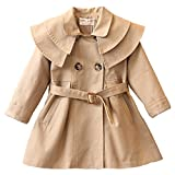 Free Fisher-Bambina Cappotto Elegante Fashion Trench Giacca Outwear Double breasted arco