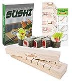 Kit para hacer sushi – Máquina de sushi de madera para principiantes y chefs – Instrucciones completas + eBook incluido.