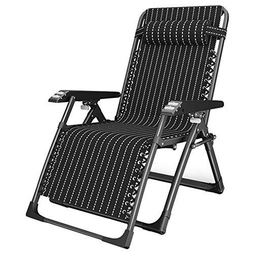 Zonnebank Zero Zwaartekracht Patio Vouwen Ligstoelen Camping Ligstoel Zonnestoelen Gazon Outdoor Office Strand Zwart Draagbare Tuinstoel