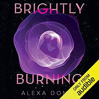 Brightly Burning audiobook cover art