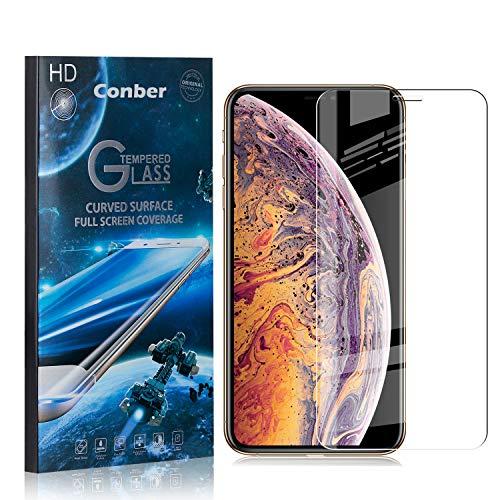 [1 Stück] Conber Panzerglas Schutzfolie für iPhone 11 Pro Max, [9H Härte][Anti-Kratzen][Anti-Öl][Anti-Bläschen] Panzerglasfolie Displayschutz für iPhone 11 Pro Max